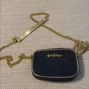 Navy and gold Lilly Pulitzer crossbody